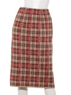 ジャガードニットタイトスカート