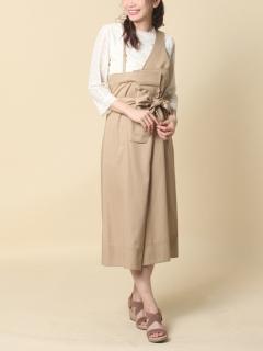 ワンショルダーラップ風スカート