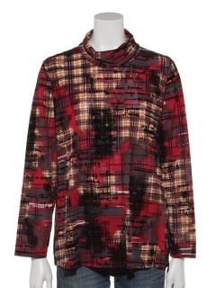 チェック×ロゴフロッキーTシャツ