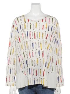 色鉛筆プリントTシャツ【手洗いOK】