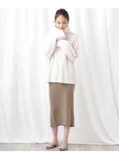 ウールカシミアリブスカート