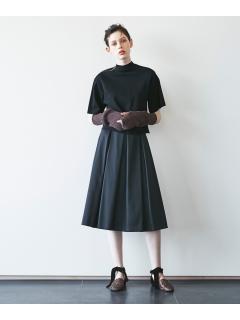 【ODORANTES】サテンタックボリュームスカート