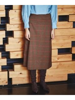 【ODORANTES】チェックバックプリーツスカート