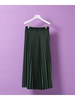 【ODORANTES】ベロアマキシプリーツスカート