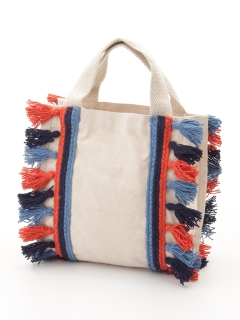 【Lilas Campbell】LP Square tassel totebag