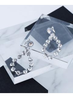 【Bijou R.I】Crystal Flower Earring