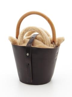【MUUN】ポーチ付バンブーバケツバッグ