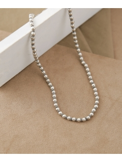 【on the sunny side of】別注Sml Metal Pearl Beads Choker