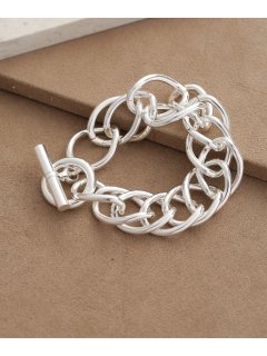 【on the sunny side of】Large Dbl Curb Chain Bracelet