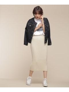 ワイドリブIラインスカート