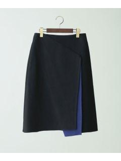【Unacanoir】リバーシブルラップスカート