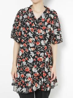 【GHOSPELL】Wrap Dress With Split Sleeves