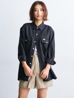 【Lee】別注サイドスリットビッグシャツ