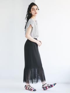 【Kaene】別注チュールプリーツスカート