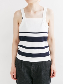 【HAVERSACK】Panel border camisole