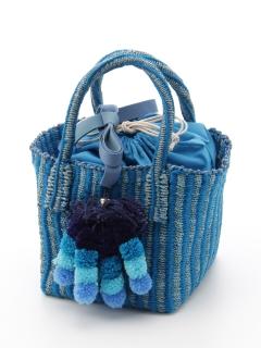 【Liberty Bell】Pompon basket bag