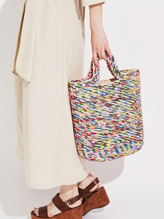 【Liberty Bell】Mix color basket bag
