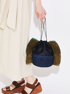 【Liberty Bell】Drawstring basket bag