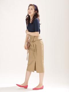 ラップベルト風スカート