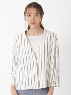 【Basement Ladys】シャンブレーVトラッカージャケット/T