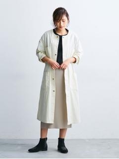 【Lee】別注コットンリネンショップコート