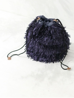 【Liberty Bell】Shaggy drawstring bag