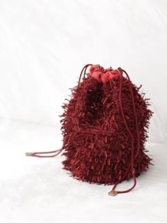 【Liberty Bell】Shaggy drawstring bag