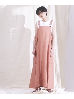 【ODORANTES】OD/リネンジャンパースカート
