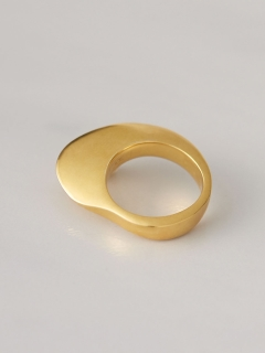 【ACE by morizane】別注sector ring K18 gold plated