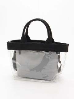 【Basement Ladys】クリアトート&ネオプレンカラーショルダーバッグ