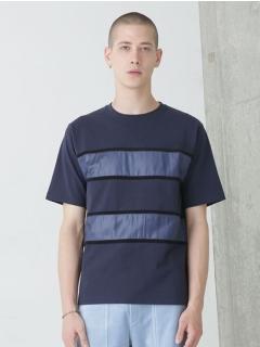 異素材ボーダーTシャツ
