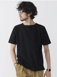 //度詰め天竺ボートネックTシャツ