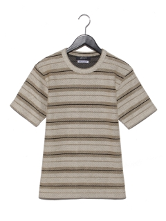 インレイパネルボーダーTシャツ SS