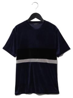 ベロア切替Tシャツ SS