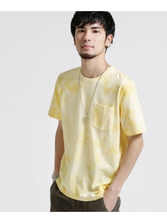 タイダイ風クルーネックTシャツ