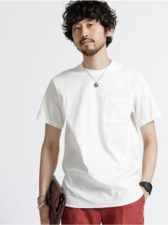 【NUカジュアル】ストレッチリネンクルーネックTシャツSS