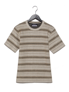 インレイパネルボーダーTシャツ SS 9999181210042