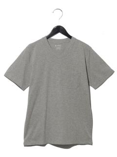 :AntiSoakedスリムVネックTシャツ