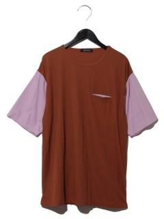 :ドッキングチェックTシャツSS