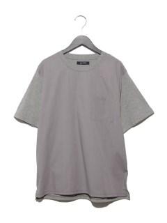 :異素材切替TシャツSS