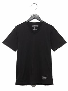:スーピマコットンVネックTシャツSS