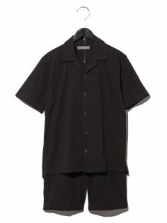 MG別注サッカー開襟シャツ&ショーツセットアップ