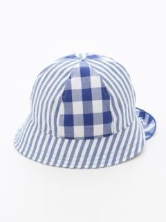 【Cream Chantilly】ギンガム保冷剤ポッケ付帽子