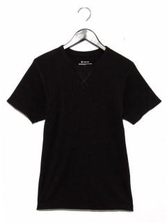 ・32/-ワッフル半袖ガゼットTシャツ