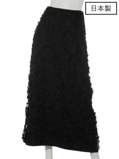 【日本製】チュール刺繍ロングスカート