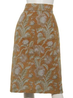 Techichi CLASSICフラワーラメジャガードスカート
