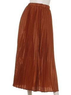 シャイニーツイルロングプリーツスカート