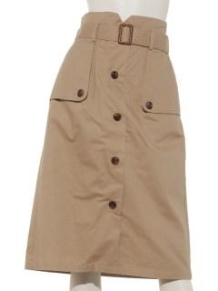 トレンチデザインスカート
