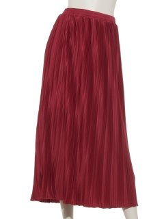 Lugnoncureサテンプリーツスカート