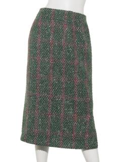 Moniqueヴィンテージツイードタイトスカート